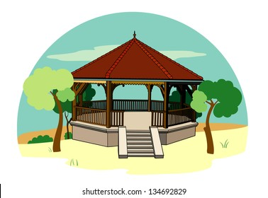Bandstand in the landscape