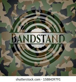 Bandstand on camo pattern. Vector Illustration. Detailed.