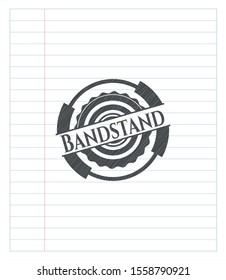 Bandstand pencil effect. Vector Illustration. Detailed.