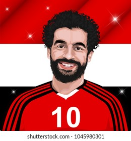 Bandung, Indonesia 15 march 2018: Mohamed Salah Ghaly professional footballer for Egypt a national team