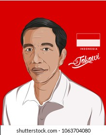 Bandung, Indonesia 8  April 2018: Joko Widodo a President of Republic Indonesia