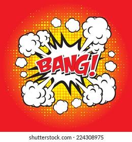 BANG! comic word