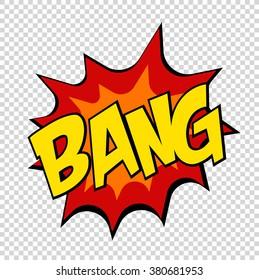 Bang comics icon Pop art Speech Bubble. vector illustration
