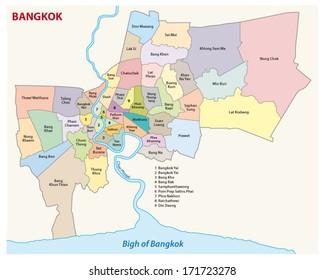Bangkok administrative map 2
