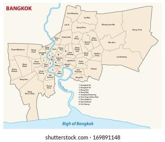 Bangkok administrative map