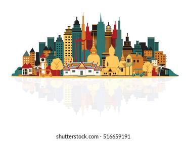 Bangkok city. Vector illustration