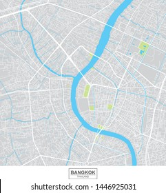 Bangkok city vector map, Thailand