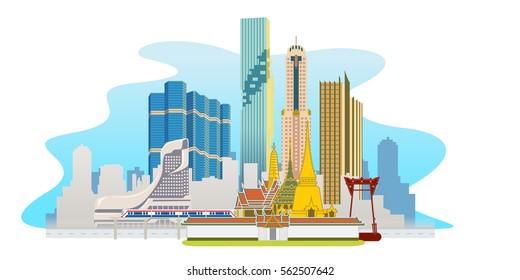 Bangkok megacity skycraper
