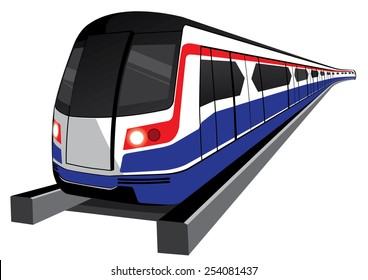 Bangkok skytrain icon vector illustration
