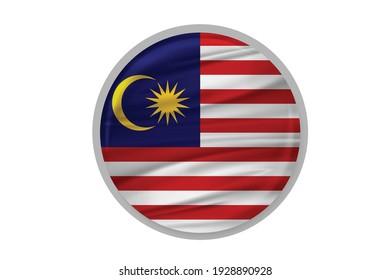 Bangkok , Thailand - Feb 20,2021 : Vector Flag of Malaysia - Proper Dimensions.