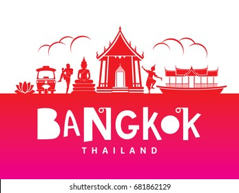 Bangkok, thailand illustration