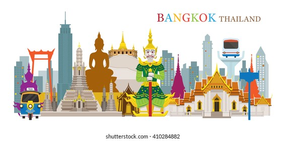 Bangkok, Thailand and Landmarks, Travel Attraction, Urban Scene
