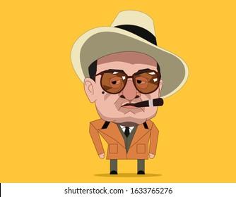 Bangkok/Thailand- Febuary 3, 2020 : Robert De Niro is an American actor . He as Al Capone in The Untouchables (1987)