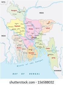 bangladesh administrative map