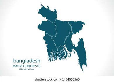 bangladesh map High Detailed on white background. Abstract design vector illustration eps 10