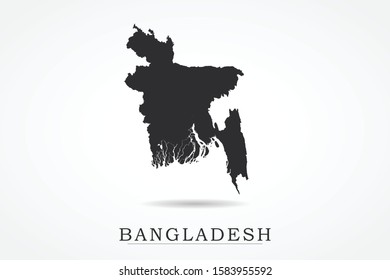 Bangladesh Map - World Map International vector template isolated on white background - Vector illustration eps 10