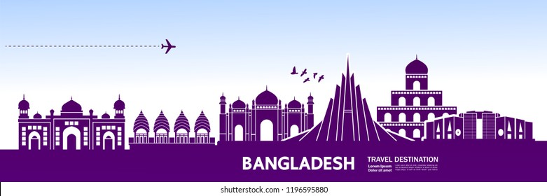 Bangladesh Travel destination vector.