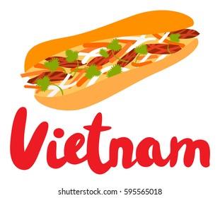 Banh Mi Sandwich with Vietnam Type