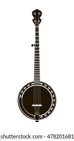 banjo musical instrument vector illustration