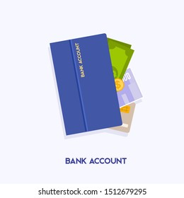 Bank account opening concept. Internet banking, online purchasing and transaction, electronic funds transfers.