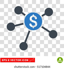 Bank Branches EPS vector icon. Illustration style is flat iconic bicolor smooth blue symbol.