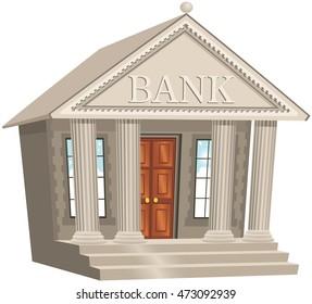Bank building.