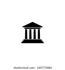 bank building icon. bank building vector illustration on white background for web and apps.
