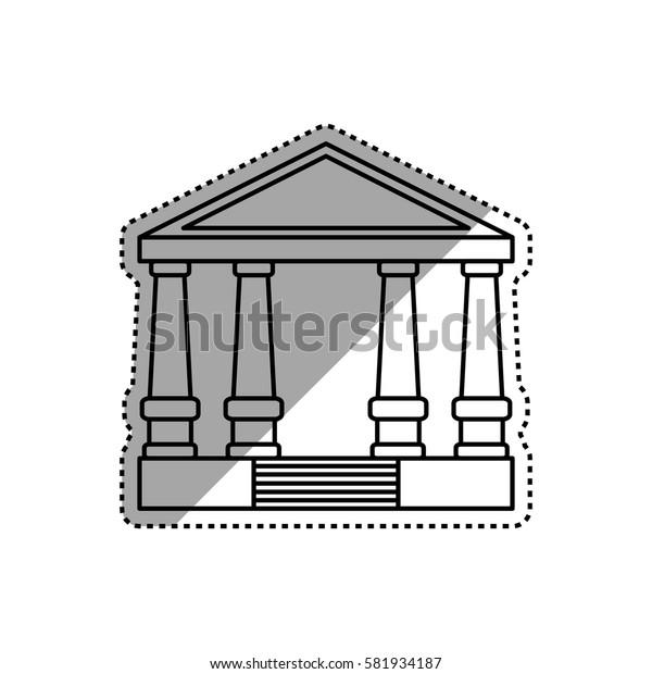 Bank building symbol icon vector illustration graphic design