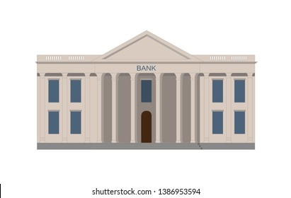 bank building vector illustration isolated