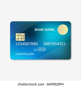 Bank card design vector template. Digital circuit background
