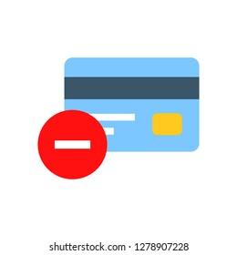 Bank Card Remove icon