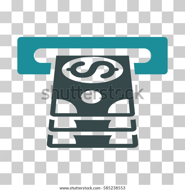 Bank Cashpoint icon. Vector illustration style is flat iconic bicolor symbol, soft blue colors, transparent background. Designed for web and software interfaces.