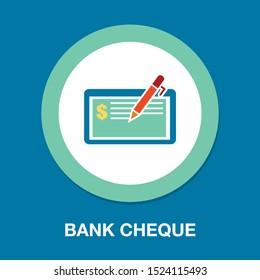 bank cheque, cheque voucher - bank icon