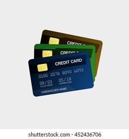 Bank Credit Cards Vector illustration