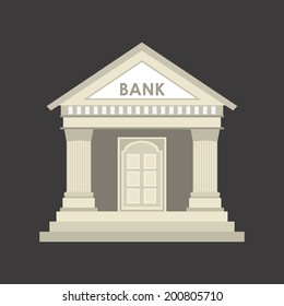 Bank design over gray background, vector illustration