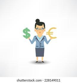 bank employee to change currency