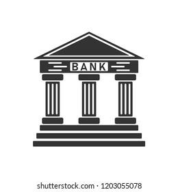 Bank. Icon Flat