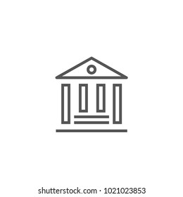 Bank icon isolated on white background. Trendy bank icon in flat style. Template for app, ui and logo, vector illustration, eps 10