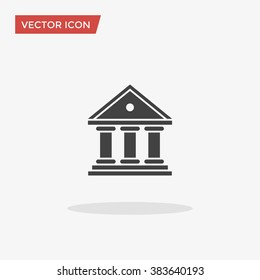 Bank Icon in trendy flat style isolated on grey background. Government symbol for your web design, logo, UI. Vector illustration, EPS10.