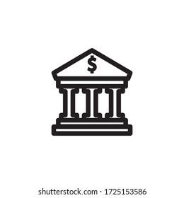 bank icon vector eps trendy design template logo signage illustration clip art