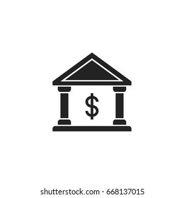 bank icon vector isolated