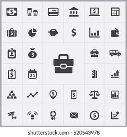 bank icons universal set for web and mobile