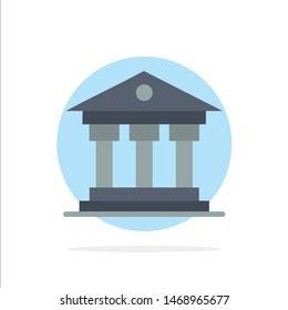 Bank, Institution, Money, Ireland Abstract Circle Background Flat color Icon. Vector Icon Template background