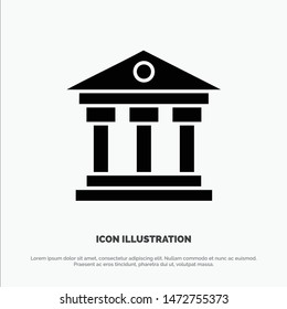 Bank, Institution, Money, Ireland solid Glyph Icon vector
