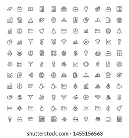 Bank manager line icon set. Collection of high quality black outline logo for web site design and mobile apps. Vector illustration on a white background