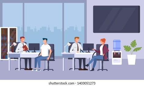 Bank office consultation concept. Vector flat graphic design cartoon