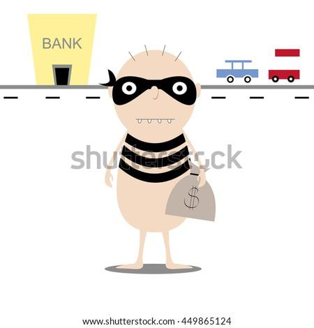 0ceb5bf5c3b Bank Robber Vector Illustration Cartoon Thief Stock Vector (Royalty ...