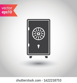 Bank safe box icon. Safe lock vector icon. Money safe flat sign design. EPS 10 pictogram symbol