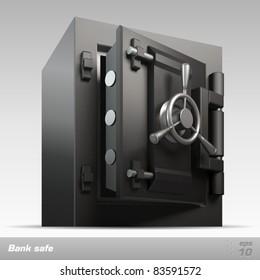 Bank safe. Vector illustration