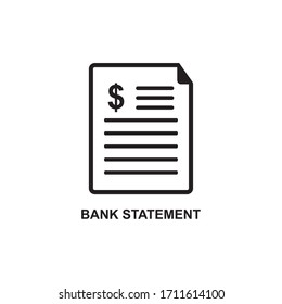 BANK STATEMENT ICON , EXPENSE ICON